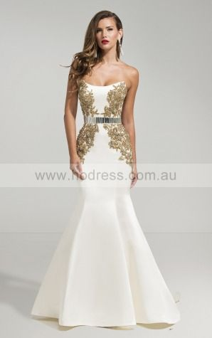 Sheath Sleeveless Strapless Zipper Wedding Dresses fubf1002--Hodress