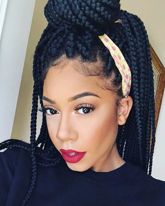 different ways to style straight hair faceovermatter hair make up fleeking 2640 | 52df4b2e75be9f909d1ee2355e7eece7 burgundy box braids bold lipstick