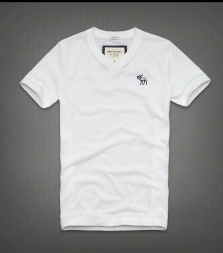 A F Abercrombie Fitch Mens Beckhorn Trail V Neck T Shirt White Xxlarge | eBay