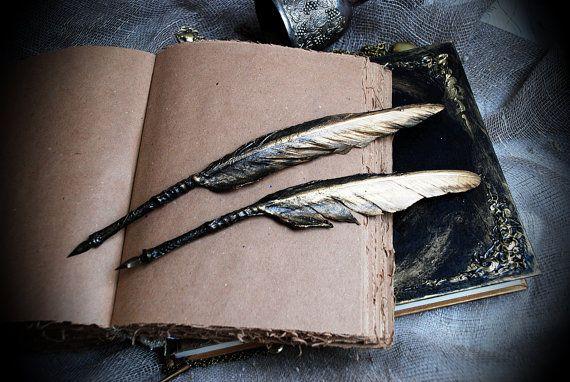 Black Feather Feder Kalligraphie Feder Feder Feder Kugelschreiber schwarz Quill Dip Pen Harry-Potter Quill Pen Geschenk Ideen für ihn