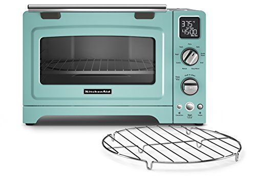 KitchenAid KCO275AQ Convection 1800-watt Digital Countertop Oven, 12-Inch, Aqua Sky. Shopswell | Shopping smarter together.™