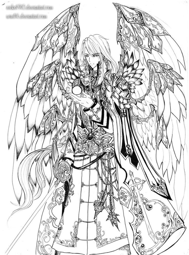 149 best Angel coloring images on Pinterest Coloring
