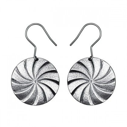 Kalevala Jewelry / Kalevala Koru / Myllynkivet -korvakorut / Millstones Earrings / Material: silver