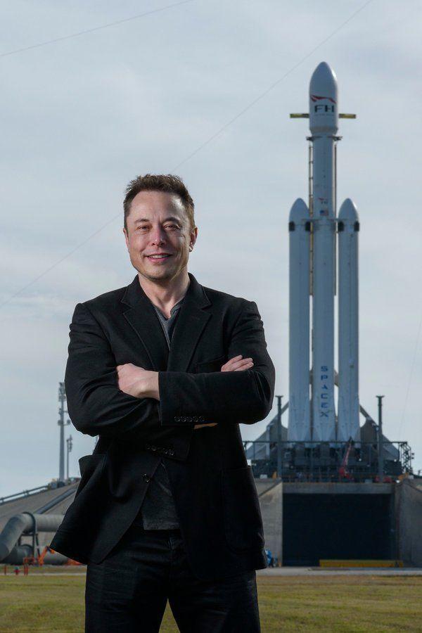 Elon Musk, feb  05 2018, the day before launching Falcon