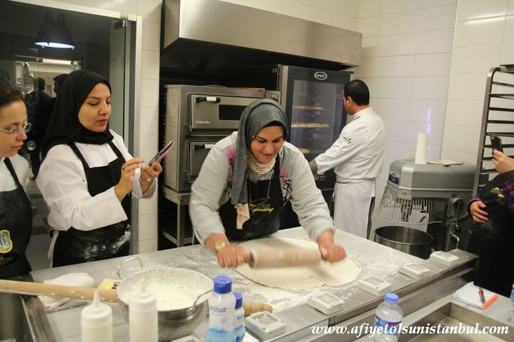Turkish Baklava making class in our kitchen in istanbul. - April 2016