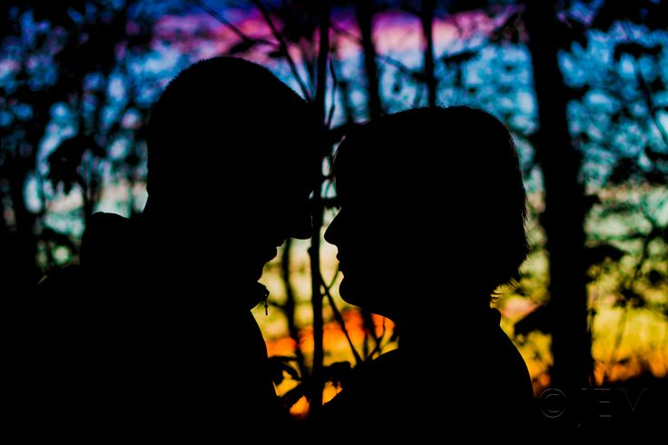 Photo of couple in the sunset