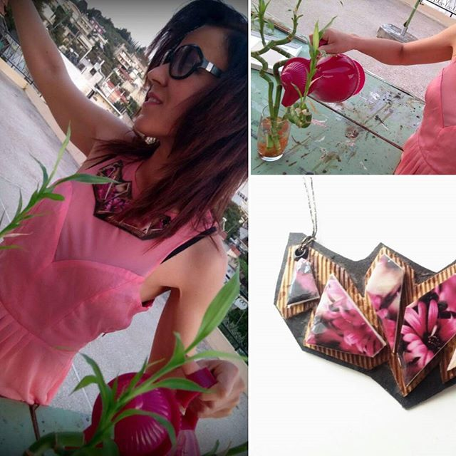 Follow your fashion. Join the Springtime spirit. Join MP Projects!  Spring Flowers: Pink Necklace - Fashion Handmade Jewel by MP Projects  Order MP Projects on Etsy platform (shipping in Greece + rest of the world! https://www.etsy.com/listing/286907651/spring-flowers-pink-necklace-fashion?ref=shop_home_listings  #MPProjects #Jewels #Handmade #Fashion #necklace