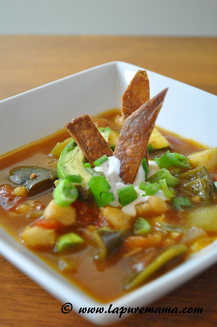 Vegan Tortilla Soup (try casa ritas and make note of all in it)