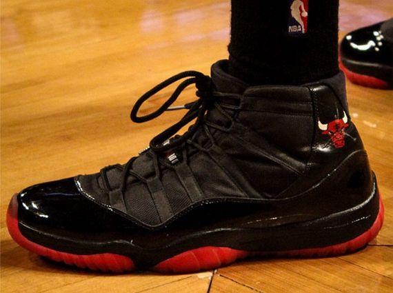 "Air Jordan XI ""Chicago Bulls"" Customs for Malcolm Thomas"