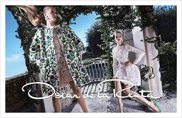 Daria Strokous and Sasha Luss for Oscar de la Renta