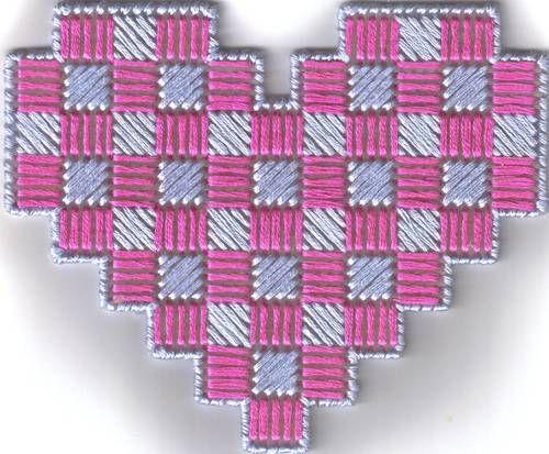 9 Best Heart Plastic Canvas Images On Pinterest   Embroidery Canvas Ideas And Plastic Canvas Crafts