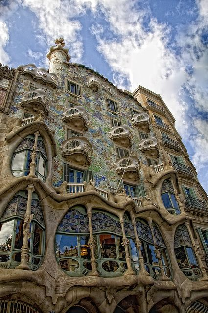 Casa Batlló, Barcelona, Spain // A multi-storey, many-hued townhouse, it was redesigned by Gaudi in 1904, and is open for public visits – with admission charged at €20.35 (£17.25). (5 minutes from hotel)