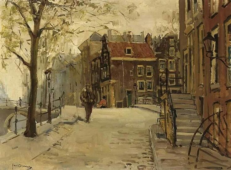 Amsterdamse gracht, Jan Korthals, 1916-1972.