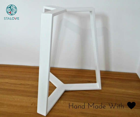 High quality handmade steel dining table base. Made with great care for details. Minimalist, modern, beautiful.   Legs are made of steel rectangle tube 8x2cm. Base has assembly holes on top so You can easily attach them to a wooden or marble table top.  Dimensions: high: 71cm (28) diameter on the bottom ~70cm diameter on top ~45cm   On the picture table base is with oak table top 95cm wide. Note that this listing does not include table top. If You wish to purchase one- contact me for…