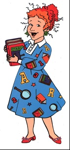 magic school bus! ms. frizzle...i have the hair potential to look just like her one day...watch out!