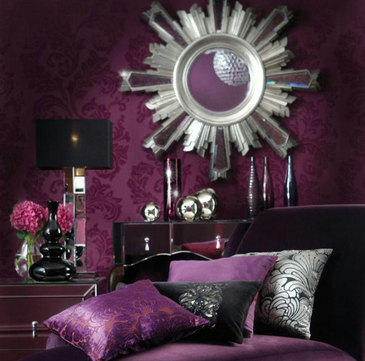 chambre baroque violet noir dcoration intrieur pinterest baroque blog and deco - Chambre Mauve Et Noir