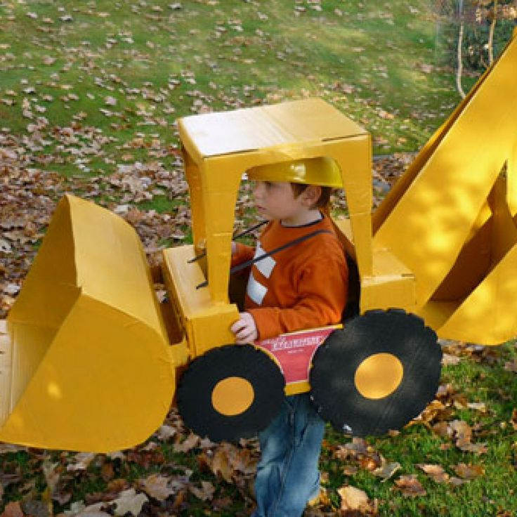 Is your kid obsessed with trucks, tractors, diggers, etc? Jennifer from Washingtion's son was, so she whipped up this homemade backhoe loader costume for him. We love the extra touch of reflective stripes on his shirt, which also came in handy when he was trick-or-treating after dark. - parenting.com