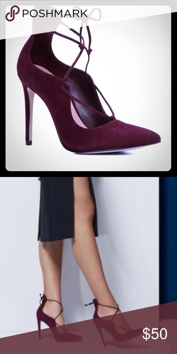 Aldo heels - wine colored suede Brand new , just barely tried them on myself , box n all Aldo Shoes Heels