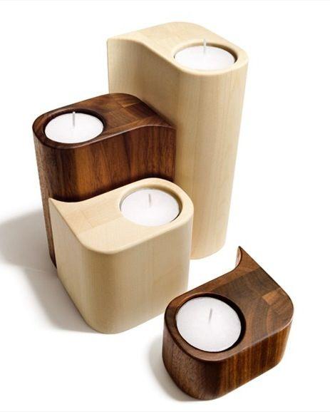Wooden Candle Holder BOUTIQUE | Candle holder TEAM 7