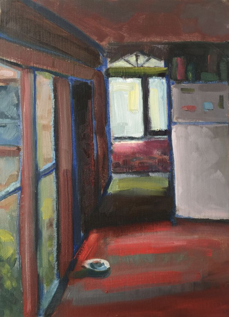 Kitchen  Oil on board 40.5 x 30cm
