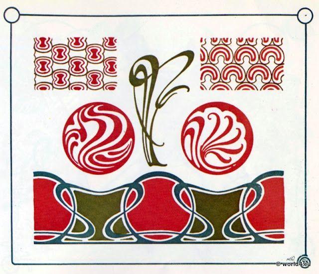 1000 images about ornamente auf pinterest keramiken for Ornamente jugendstil