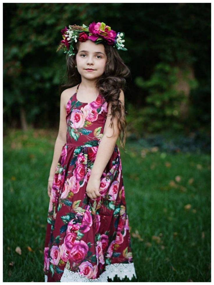 Girls Spring Floral Maxi Dress | Girls Boho Rose Maxi Dress | Shabby Chic Bohemian Floral Dress | Toddler Maxi Dress | Flower Girl Dress | #toddlerfashion #affiliate