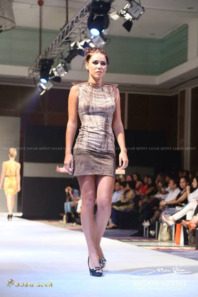 India fashion week  Tea dying ... Prints .. Copper accessories ..