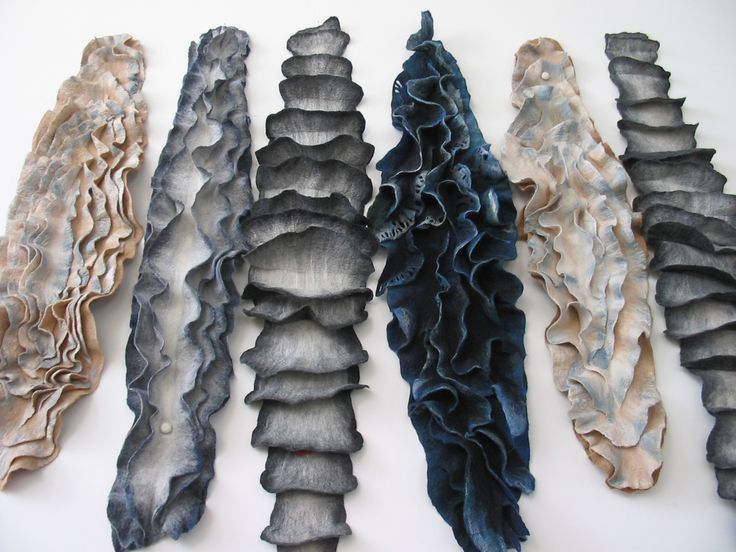 Fabric Manipulation beautifully felted texture samples; textiles surface creation; the art of felting by Dagmar Binder