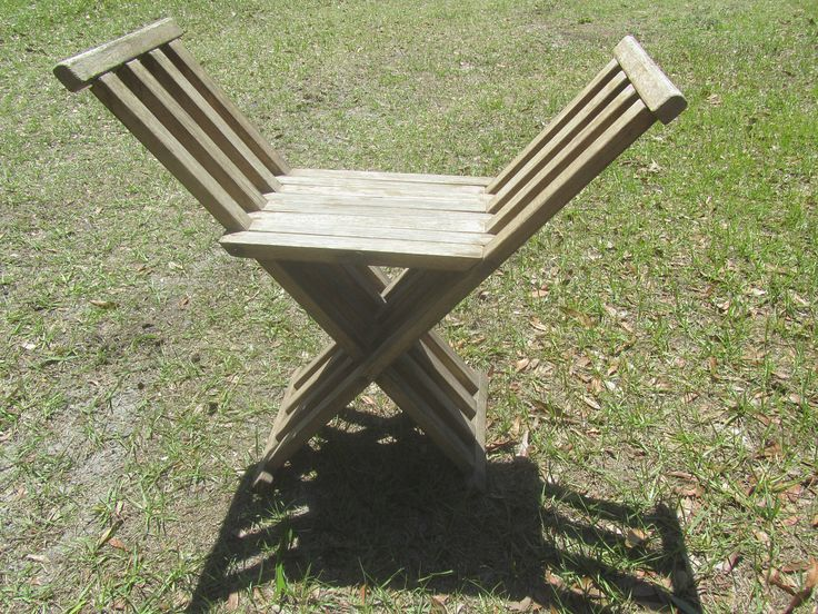 Vintage Folding Chair, Scissor Chair, wood chair, Camp chair, Seat, Folding Seat, Wooden Folding Chair by KarensChicNShabby on Etsy