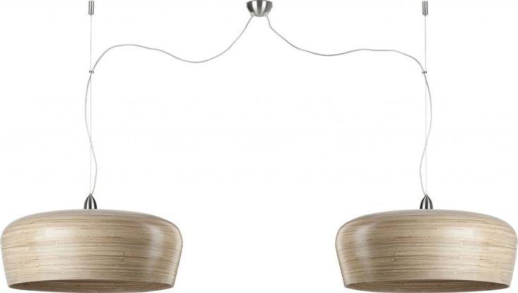 Hanglamp Hanoi Special - Bruin - 2 kaps - Bamboe - It's About RoMi