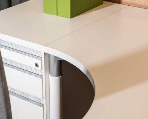 s110 kompakttisch mit stellcontainer