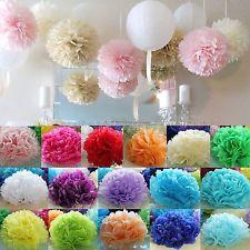 "6"" 8"" 10"" 12"" Colorful Tissue Paper Pom Poms Flower Balls Wedding Birthday Party"