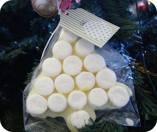 Marshmallow Christmas Tree on Tree