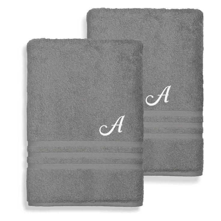 Linum Home Textiles Denzi Cotton Bath Towels - Set of 2 Twilight Blue - DNZ50-2BT-LF-00-U