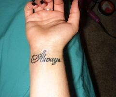 The tattoo I want..on the wrist, but perhaps lengthwise....