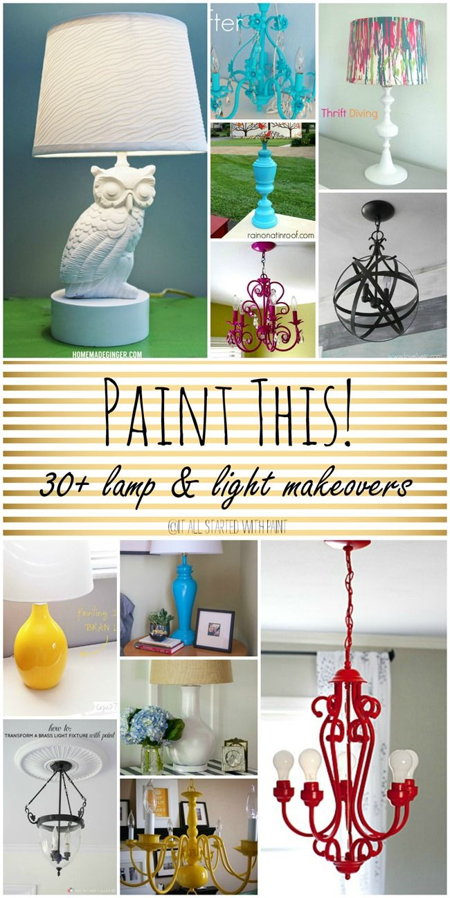 30+ lamp and light fixture makeovers using paint. Don't throw away that old lamp just because you don't like the finish. A can of spray paint can do wonders.