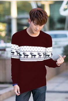 Mannen trui met print een paar bijpassende kerst herten rendieren truien trui gebreide mode trui polo lelijke./19km in  van truien op AliExpress.com | Alibaba Groep