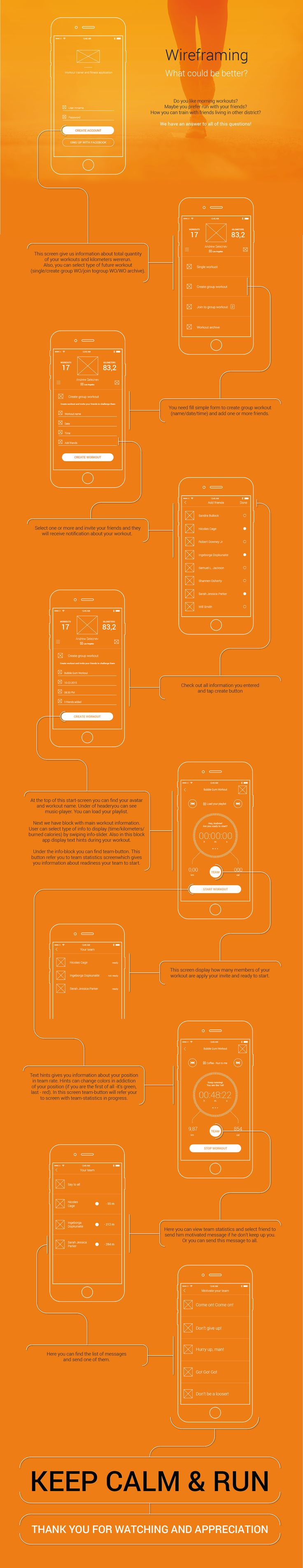 UX wireframing of fitness tracker.UI coming soon.