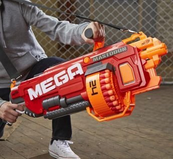 Nerf guns have certainly gotten better since I played with them as a child. The best thing I had was a Nerf bow-and-arrow that shoots this big silly arrow at like 3 mph. Now they have Nerf rifle guns ...