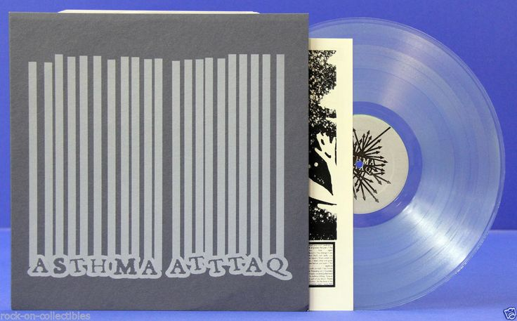 Asthma Atttaq / Dirty South Apocalypse 2004 Hardcore Punk Split Lp Clear Vinyl #punkvinyl #rockoncollectibles