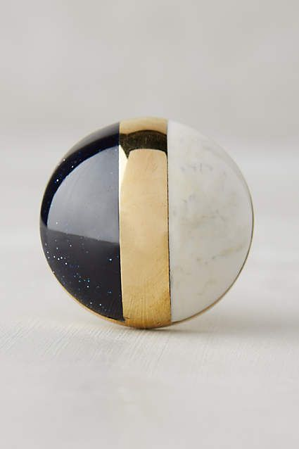 Gilded Triad Knob - anthropologie.com