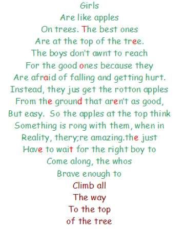 Girls are like Apples