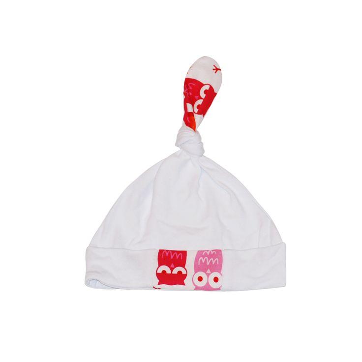 Czapeczka niemowlęca SOWY RÓŻOWE Baby Soft Hat Pink Owls https://fiorino.eu/
