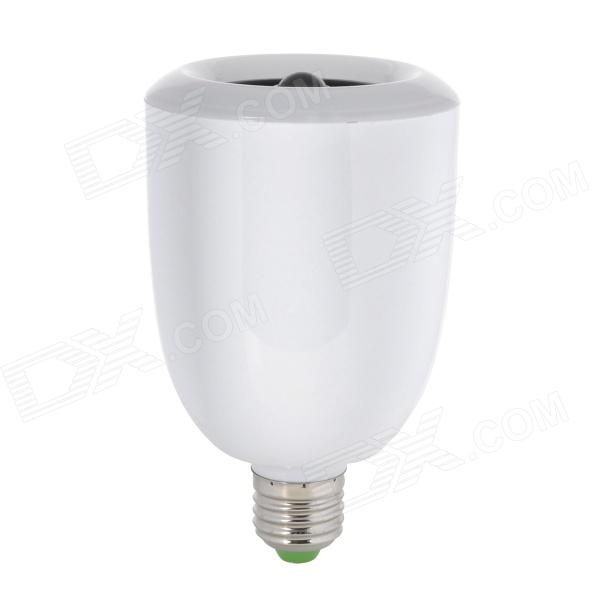 E27 9W 360lm 5000K 36-LED White Light Bulb w / Bluetooth Speaker - Wit