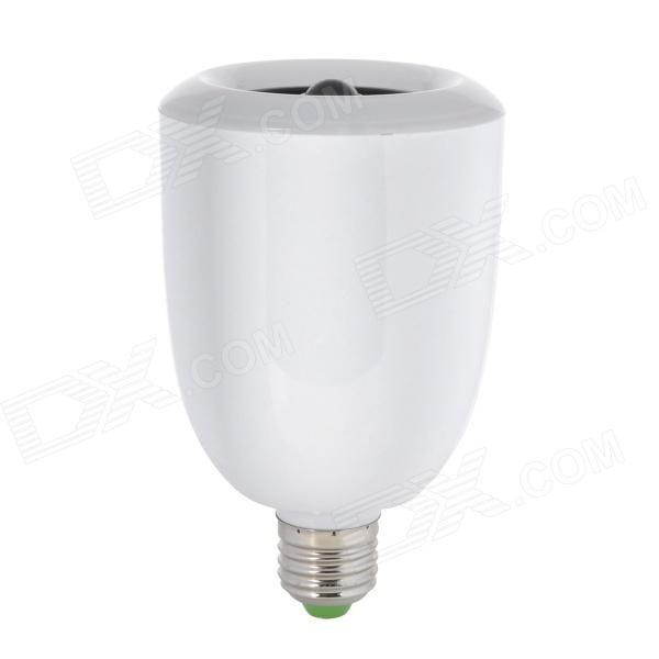 E27 9W 360lm 5000K 36-LED White Light Bulb w / Bluetooth Speaker - Wit