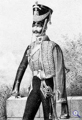 Обер-офицер Принца Оранского гусарского полка, 1820-1825 годы.