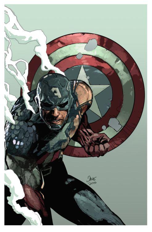 """Captain America """"Fallen Son"""" -Dave Seguin After Leinil Yu"""