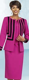 Ben Marc Executive 11441 Striped Career Suit For Ladies