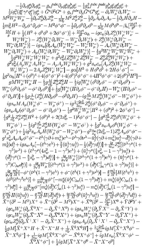standard model of particle physics written out. this might be a separate tattoo. LOVE!