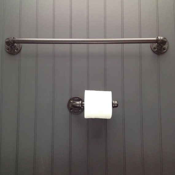 I have these pipe fixtures in my bathroom and I love them!